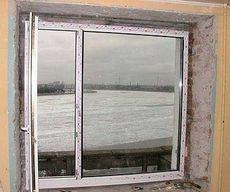 Окно из профильной системы WDS двухчастное для гостиной