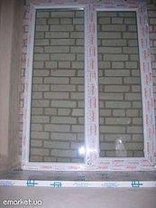 Окно Рехау двухстворчатое с ламинацией со звукозащитным двухкамерным стеклопакетом по оптовой цене