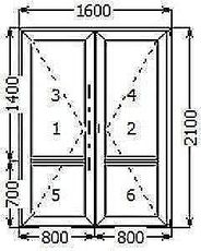 Входные штульповые двери из профиля WDS