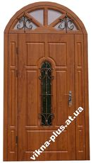Двери в дом элитные арочные