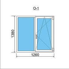 Двухстворчатое окно Rehau60 с фурнитурой Maco.