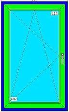 Одностворчатое поворотно-откидного окно из профиля Rehau E60 размером 900х1050мм