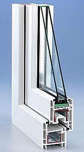 Одностворчатое поворотно-откидного окно из профиля Rehau E60 размером 950х1650мм