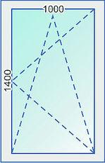 Одностворчатое окно из профиля ALMplast, с фурнитурой Maco и однокамерным стеклопакетом
