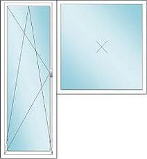 Балконный блок из профиля Rehau 70, с фурнитурой Winkhaus и двухкамерным стеклопакетом