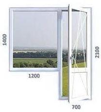 Балконный блок из профиля Salamander 2D, с фурнитурой Maco и однокамерным стеклопакетом
