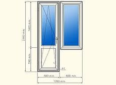 Балконный блок из профиля Salamander 2D, с фурнитурой Maco и двухкамерным энергосберегающим стеклопакетом