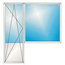 Балконный блок из профиля WDS-505, с фурнитурой Maco и двухкамерным стеклопакетом