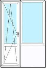 Балконный блок из профиля Fenster 300, с фурнитурой Siegenia и однокамерным стеклопакетом