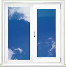 Окно двухчастное деленное пополам Rehau 1250х1400