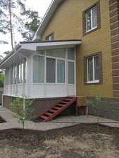 Приватний будинок (вид збоку) — АлюПластика
