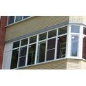 Рама балконная металлопластиковая