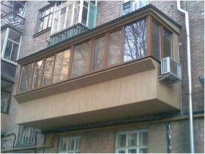 Балкон с выносом. — Фабрика Окон