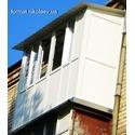 Французский балкон с крышей