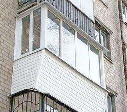 Балконная рама П-обр. в пятиэтажку от компании Good Master  Харьков — Good Master