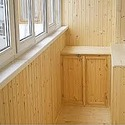 Обшивка балкона.
