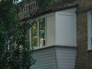 Балкон с выносом. — КИЕВПЛАСТ
