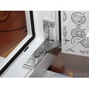 Скрытая фурнитура в окнах ТМ `Окна КОРСА`