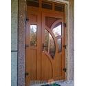 Декоративные двери входной групы с гнутыми импостами