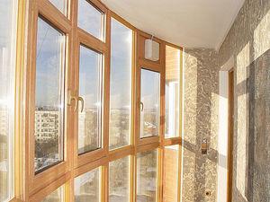 Панорамный балкон в ламинации — Ника-Пласт