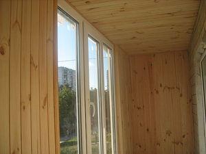 Обшивка балкона деревянной вагонкой — Ника-Пласт