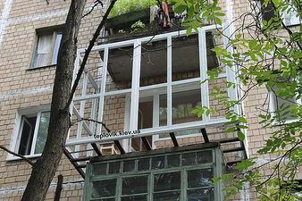 """Расширение балкона с помощью сварки выноса по полу — СК """"Комфорт"""""""