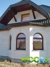 Остекление коттеджа - окна с арками — Терминус