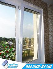 Окно двухстворчатое металлопластиковое Rehau Euro 60 — Украина Пласт