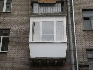 Балкон с выносом по периметру — Веселі вiкна
