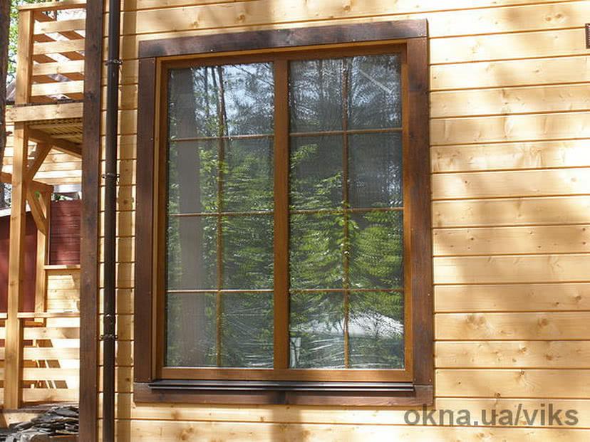 Фото окна со шпросами