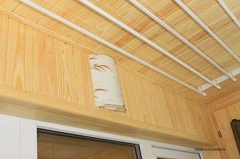 Внутренняя обшивка балкона деревянной вагонкой — Захаров