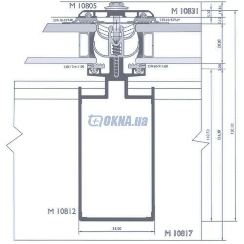 Alumil M 10800 Skylight Aluterm профили.