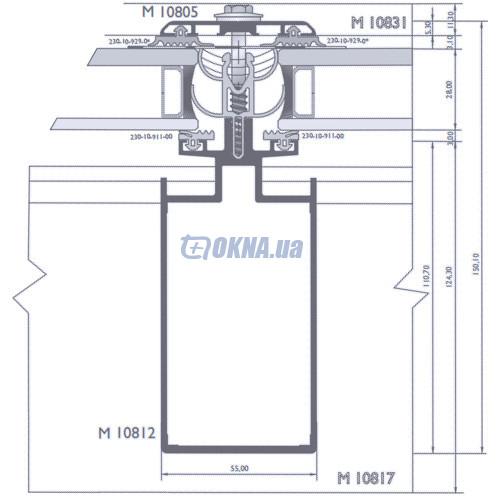 Alumil M 10800 Skylight Aluterm