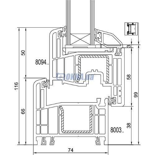 GEALAN Fenster-Systeme GmbH  GEALAN S 8000 профили.