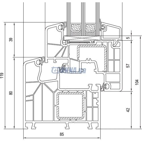 aluplast GmbH Ideal 8000 профили.