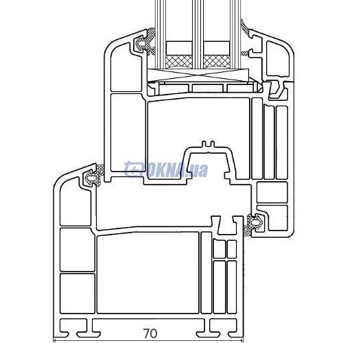 Металлопластиковый-профиль Металлопластиковый профиль 70 мм