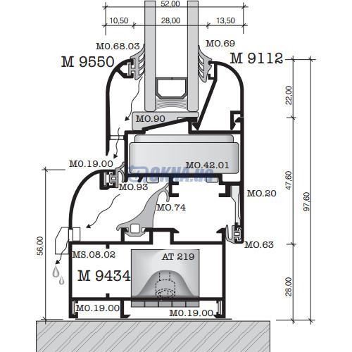 Alumil M 9400 Softline Plus