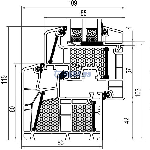 aluplast GmbH energeto 8000 foam профили.