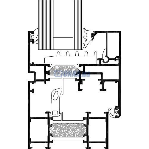 Алюминиевый-профиль Алюминиевый профиль 70 мм, термомост 36 мм с пенополиуретаном