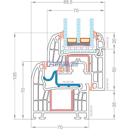 CKM Extrusion TITANIUM TITANIUM Design Slim профили.