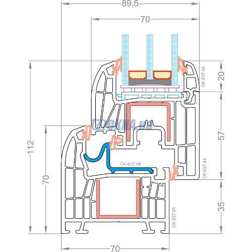 CKM Extrusion TITANIUM TITANIUM Design Classic профили.