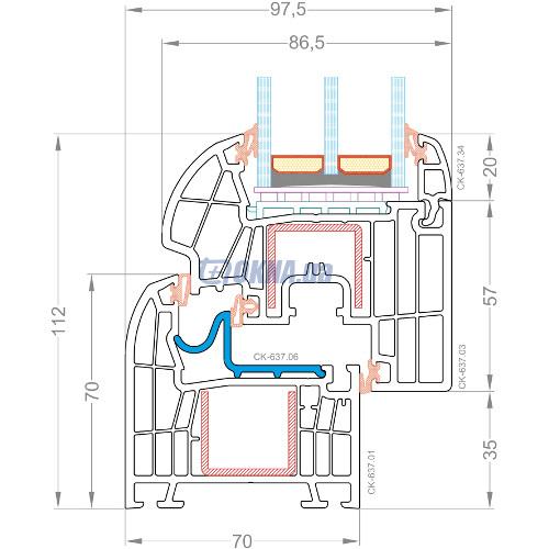 CKM Extrusion TITANIUM TITANIUM Design Plus профили.
