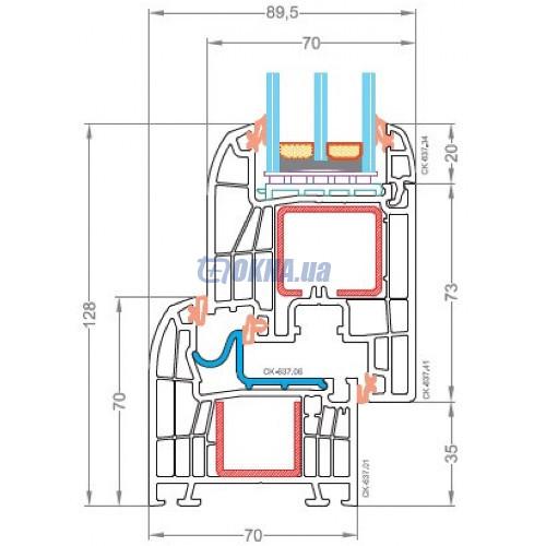 CKM Extrusion TITANIUM TITANIUM Design Forte In профили.