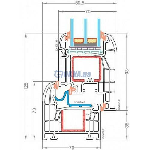 CKM Extrusion TITANIUM TITANIUM Design Forte Out профили.