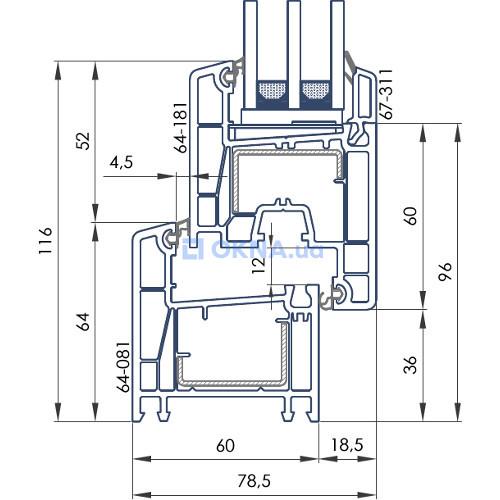 OPEN TECK DE-LUX EVO 4 камеры профили.