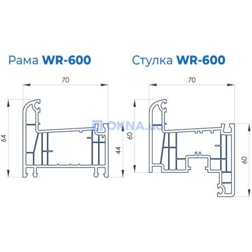 ВікнаНові VIKNANOVI WR600 профили.