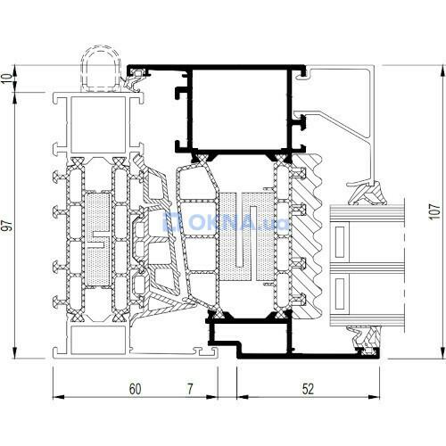 Reynaers Aluminium MasterLine 10 HI+ профили.