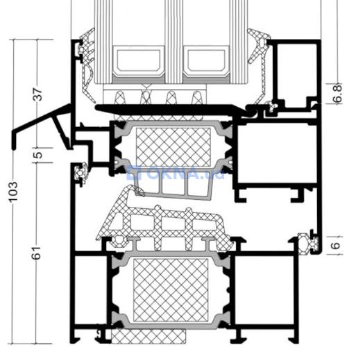 Alumil SUPREME S77 профили.