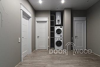 Межкомнатные двери в классическом стиле, белые двери из массива