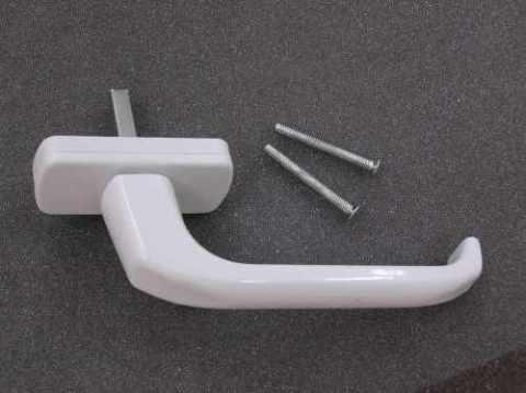 Ручка оконная алюминиевая (белая, восьмипозиционная, штифт 35 мм)